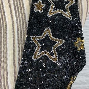 Vintage Jackets & Coats - Vtg Sequined & Beaded Star Vest